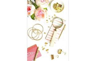Pinterest Styled Gold Desktop Image