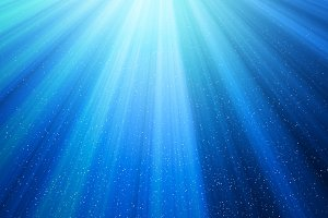 Light with dots on blue background in technology concept. Sun ray. Abstract illustration.