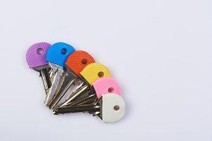 Colorful lock keys theme