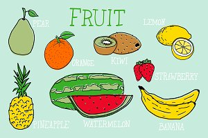 Fruit Vector Illustrations