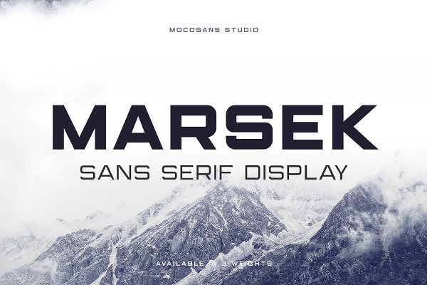 Sans Serif Fonts: MOCOSANS - (NEW) Marsek - A Solid Display Font