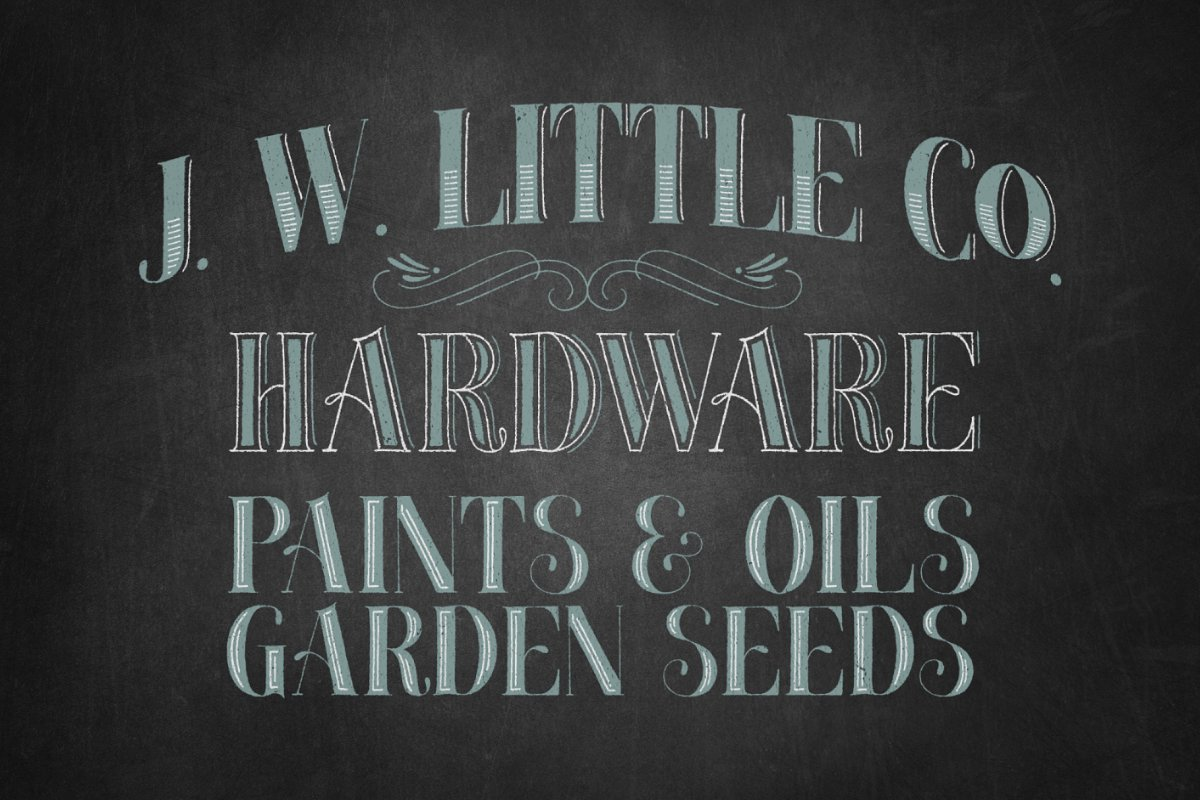 Chalky Letters font collection in Lettering Fonts - product preview 5