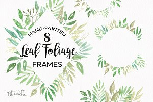 Leaf Foliage Frames Borders Clipart