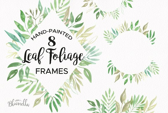 Leaf Foliage Frames Borders Clipart