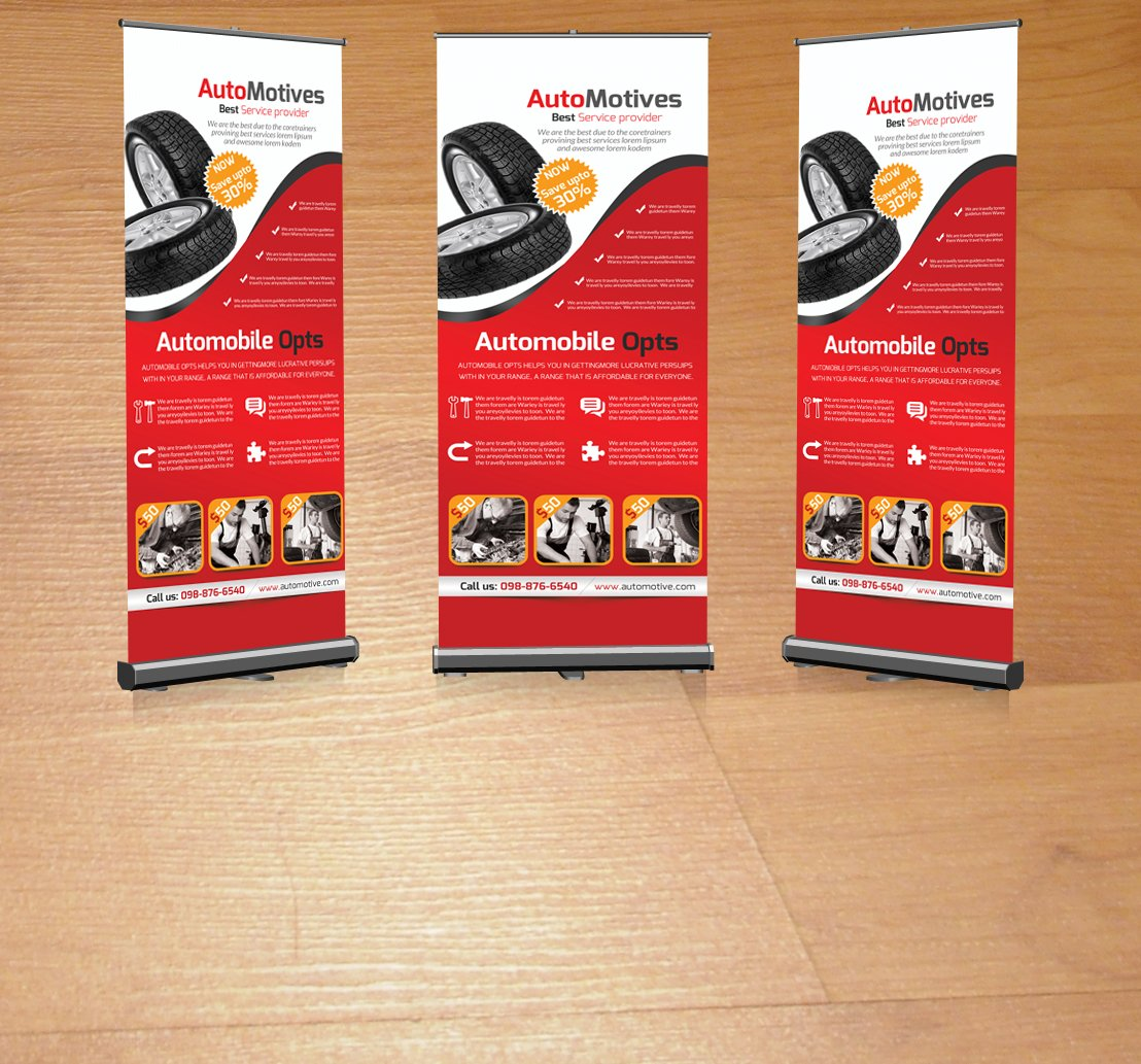 automotive business roll up banner magazine templates creative