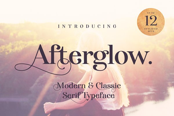 Display Fonts: Vintage Voyage Design Co. - Afterglow