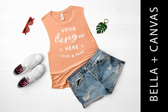 Bella Canvas Sunset Tank Top Mockup