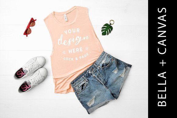 Bella Canvas Peach Tank Top Mockup