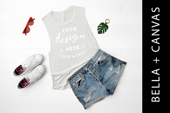 Bella Canvas Sand Tank Top Mockup