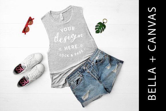 Bella Canvas Grey Tank Top Mockup