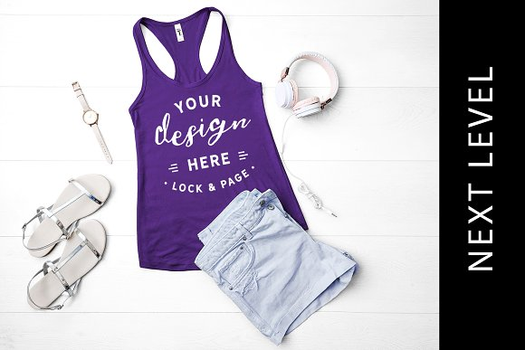 Next Level Purple Tank Top Mockup