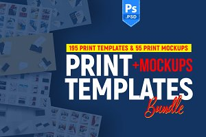 +250 Print Templates & Mockup Bundle
