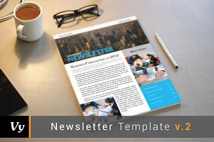 US Letter Newsletter Template