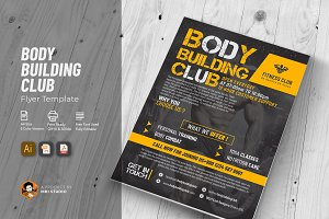 Body Building Club Flyer