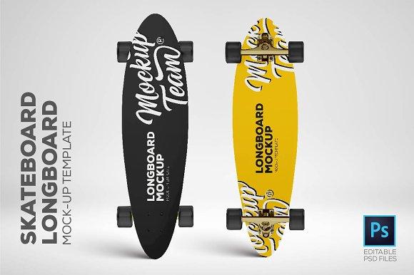 Skateboard Longboard Mockup Temp