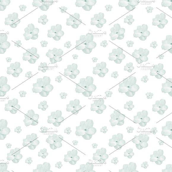 Pastel Floral Motif Pattern