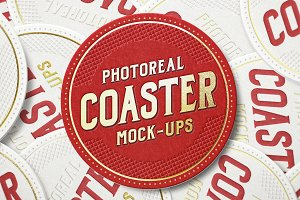 Photoreal Coaster Mock-ups
