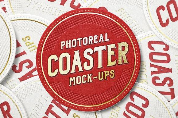 Download Photoreal Coaster Mock-ups