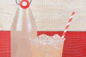 Lemonade Bottle and Glass