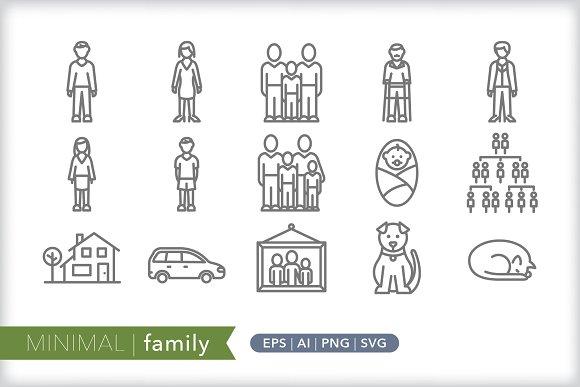 Minimal Family Icons