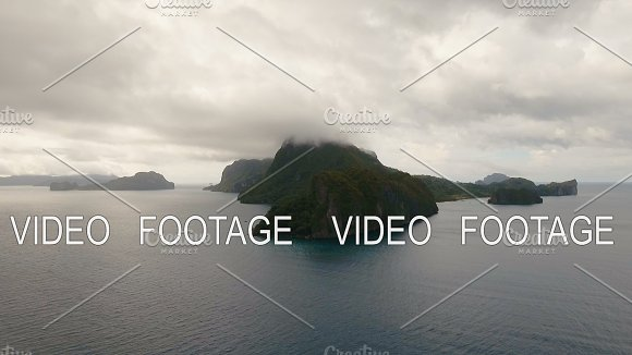 The Beautiful Bay With Mountains Rocks Aerial View Tropical Islands