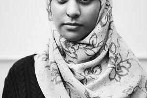 Portrait of a Muslim girl