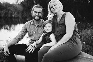 Portrait of a happy caucasian family