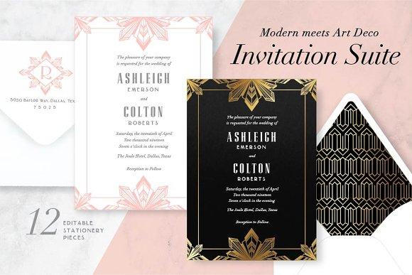 Modern Meets Art Deco Invite Suite