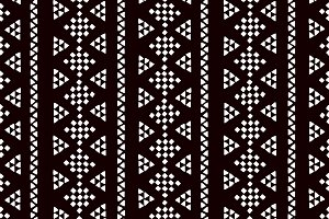 Black and white geo ethnic pattern