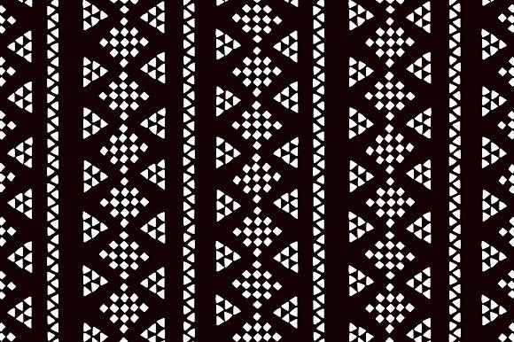Black And White Geo Ethnic Pattern