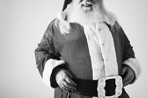 Portrait of a cheerful Santa Claus