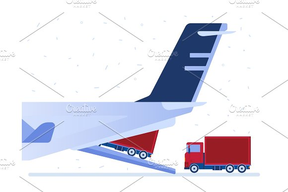 Air Logistics Vector Illustration