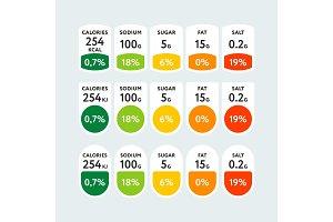Multicolored design of nutrition value