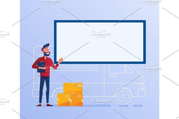 Logistics Delivery Service Concept Banner