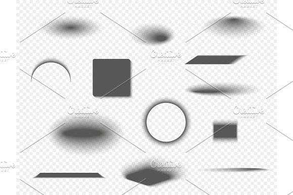 Set Of Various Transparent Shadows