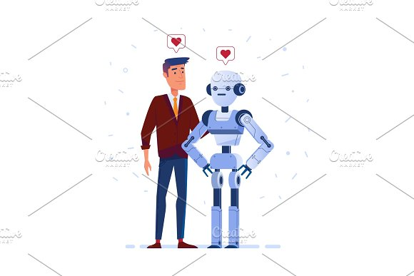 Robot And Human In Love