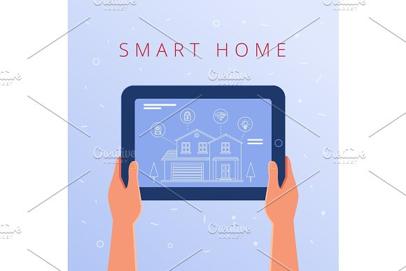 A Tablet With Smart Home Settings And Controllers System
