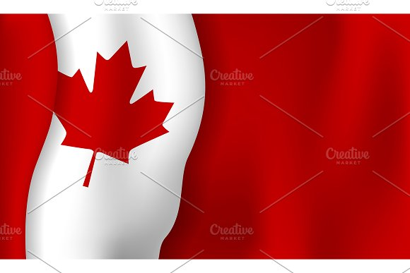 Canada Day Banner Background Design