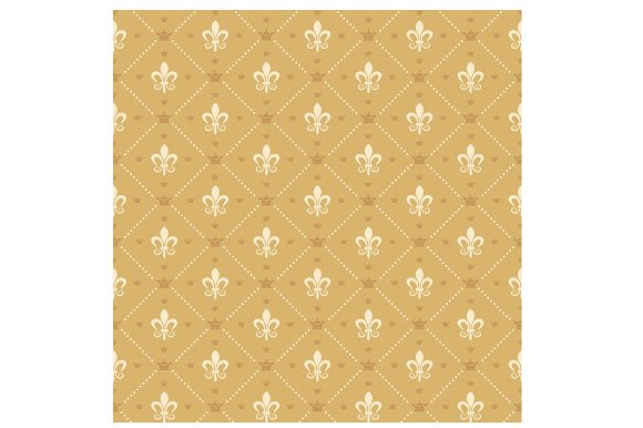 Vintage Royal Wallpaper Vector