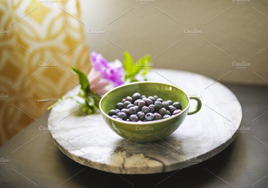 Bowl of Zen Blueberries - Food & Drink
