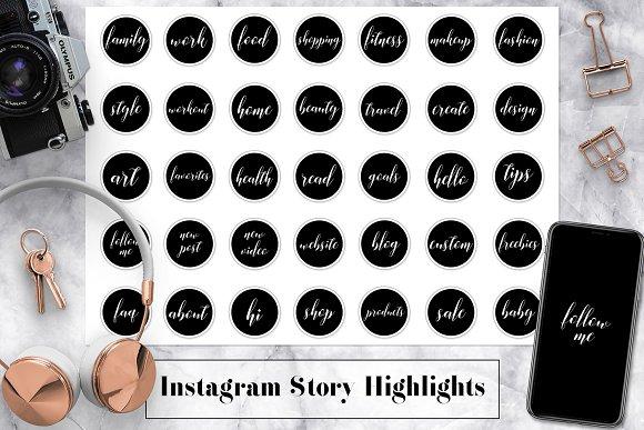 B&W Instagram Story Highlights