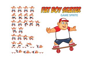 Fat Boy Skater Game Sprite