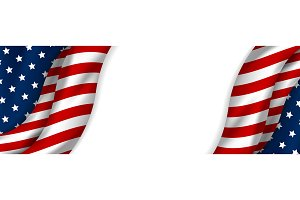 USA banner design of american flag
