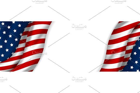 USA Banner Design Of American Flag