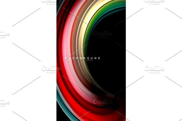 Fluid Mixing Colors Vector Wave Abstract Background