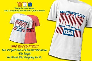 Soldiers Tribute War Hero T-Shirt