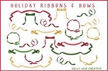 Christmas Ribbons & Bows - Vector