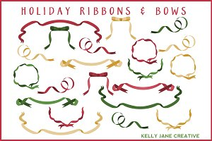 Christmas Ribbons & Bows - Vector