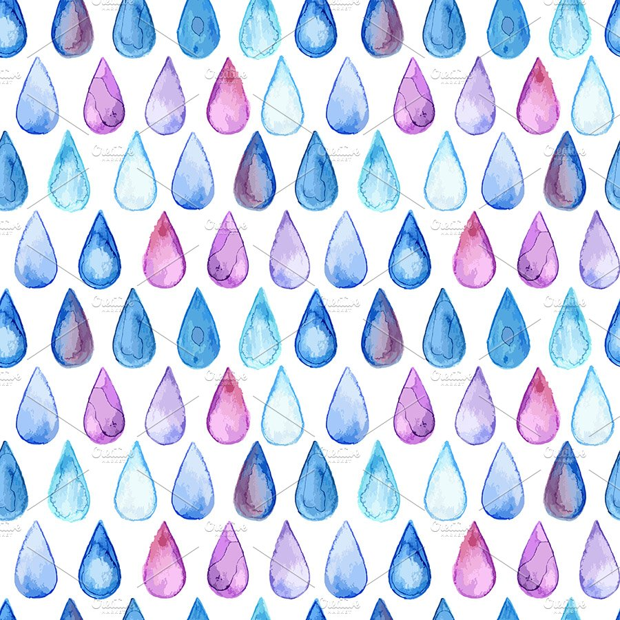 Drops Patterns Unique Decoration