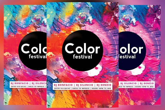 Color Festival Flyer
